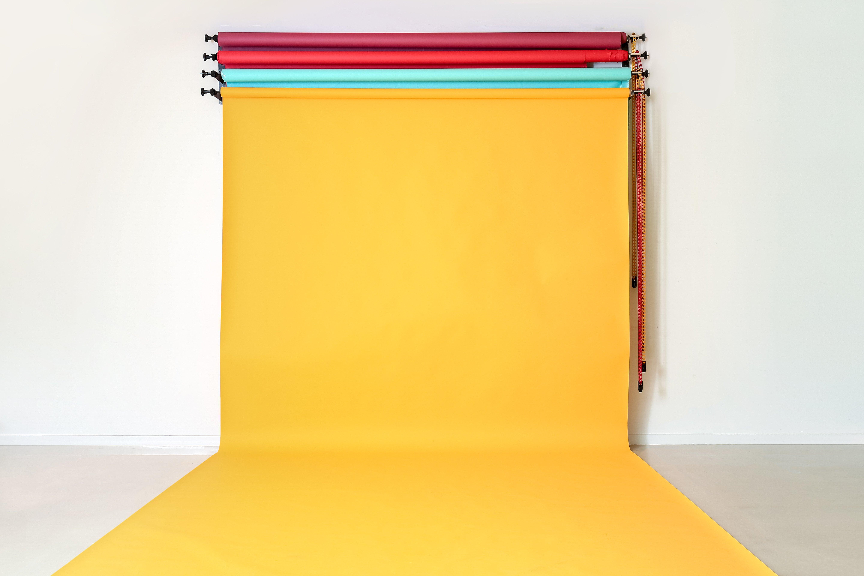 Color backdrops in modern photo studio